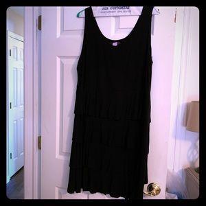 Black tank dress 2x adorable tiered tank cotton